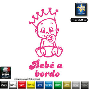 Bebè A Bordo Adesivo Sticker Baby On Bord Bimbo Bimba A Bordo Scegli Il Colore Hkwv8ozp-10115039-459565174