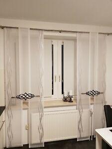 Moderne Gardinen Set Flachen Schieben Vorhang Panel Ebay