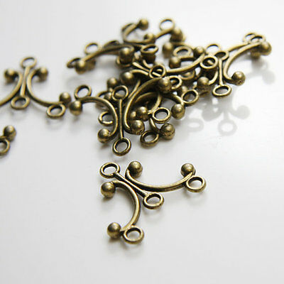 12pcs Antique Brass Tone Base Metal Multi Loops-earring findings 12169Y-D-193B