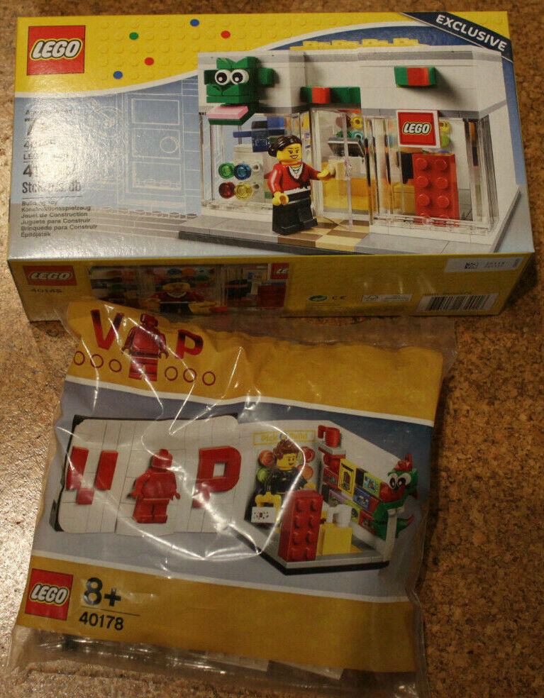 LEGO 40145 + 40178 Shop City Haus OVP Neu ungeöffnet mit Figures