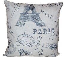 KISSENHÜLLE 40x40 Dekokissen Kissenbezug Vintage London Brigde Paris Eifelturm