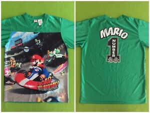 factory price 3555d 919c4 Details about Nintendo Wii Mario Kart Road Warriors Jersey Shirt Boys Youth  Size 14 / 16 XL