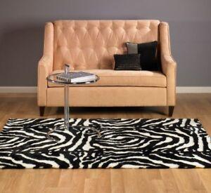 Faux Fur Zebra Rug 5x7