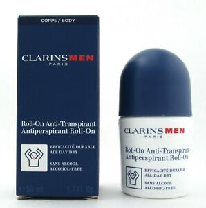 Clarins Men Antiperspirant Roll On Alcohol Free 50 ml./1.7 oz. New In Box
