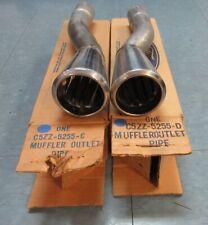 Trim anéis luzes valência Novo trompetes Mustang 1965-1966 Dual Exhaust dicas