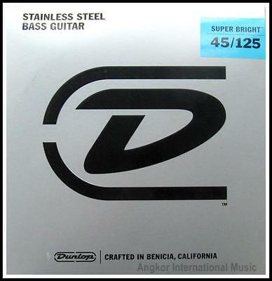 Dunlop Super Bright Stainless Steel 5-String Bass Guitar Strings Medium 45 - 125