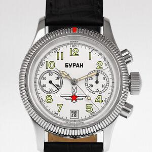 POLJOT-BURAN-3133-6501576-Fliegeruhr-Handaufzug-mechanische-russiche-Uhr-NOS