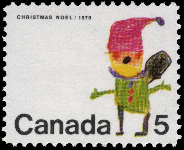 Canada   # 519   CHRISTMAS - SANTA CLAUS    Brand New 1970 Original Pristine Gum