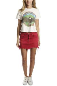 c29e30df36a55d One Teaspoon Skirt VANGUARD Red Envy Short Mini 25 29 Distressed ...