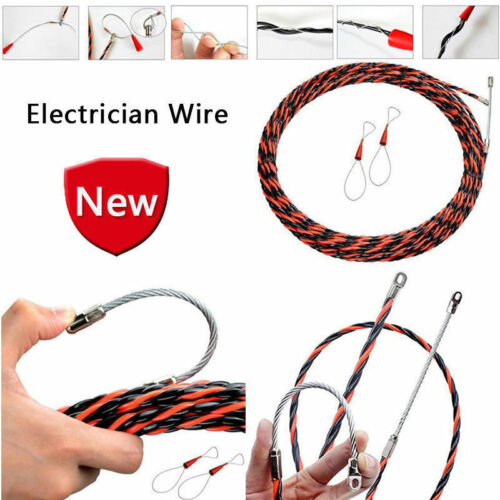 Electrician Wire Cable Threading Device 5m//10m//15m//20m 2018 *****