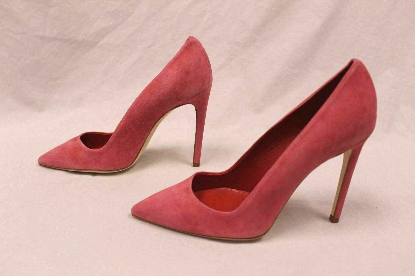 Dee Keller Womens Portia Suede Leather Pumps Papaya GG8 Size IT 39 US 9 New  297