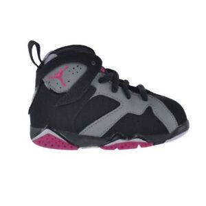7663dd9bce7 AIR JORDAN RETRO 7 TD 705418-008 TODDLER FUCHSIA PURPLE PINK GIRLS ...