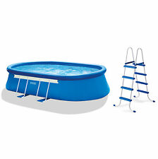 "Intex 18' x 10' x 42"" Oval Frame Pool Set with 1000 GPH Filter Pump