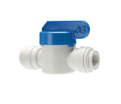 """John Guest equal 1/4"""" PF Shut off Valve for Water Pipe Tube"""