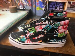 bf90296170 Vans SK8-Hi Slim (Hawaiian Floral) Black Size US 4 Men (5.5 Women ...