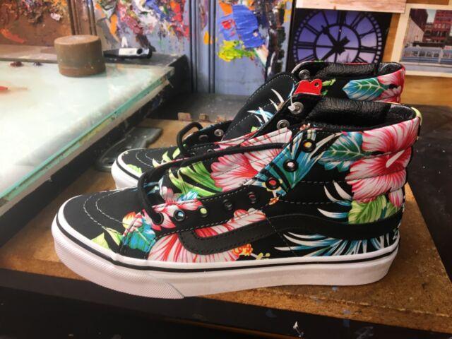 vans hawaiian floral sk8-hi slim