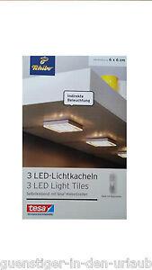 2ac31228c1 TCM Tchibo 3 LED Lichtkacheln selbstklebend Licht Beleuchtung Lampe ...