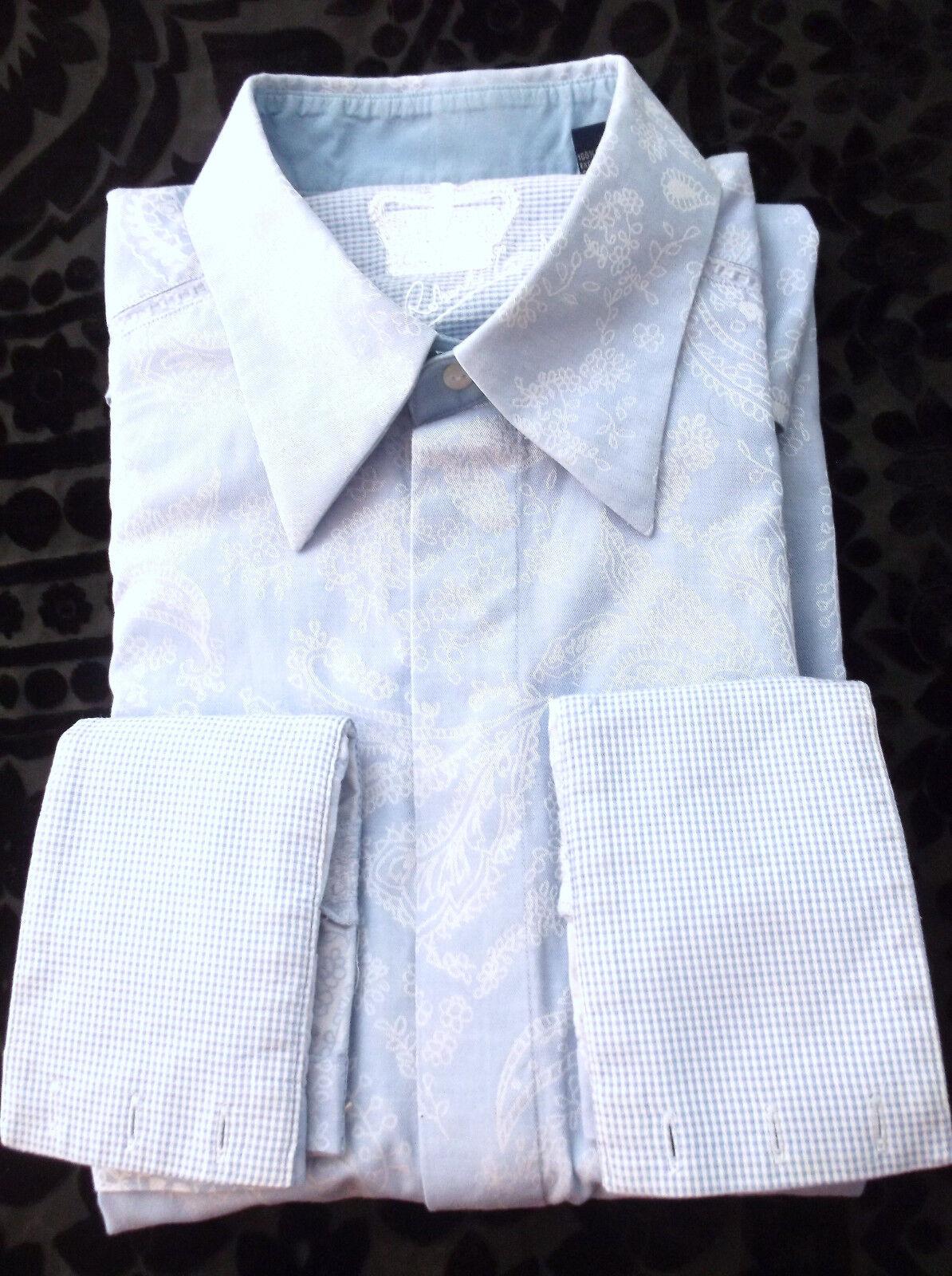 ROBERT GRAHAM Multi-Farbe Blau Paisley Shirt Blau Weiß Long Sleeve Größe XL/ TG