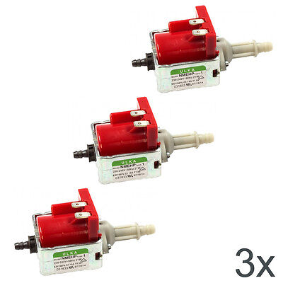 3X ULKA NMEHP1 MICRO PUMPS 230/240V, 21W STEAM CLEANER, STEAM IRON, OVEN