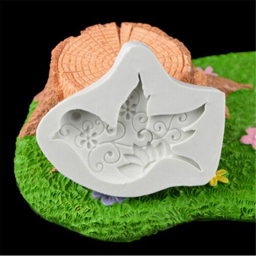 Food-grade dove of peace shape resin molds silicone fondant cake tool 6D IJNIUS