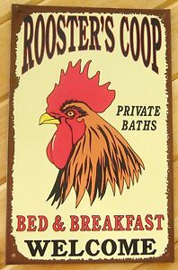 Rooster-Coop-TIN-SIGN-rustic-farmhouse-country-prim-kitchen-chicken-wall-decor