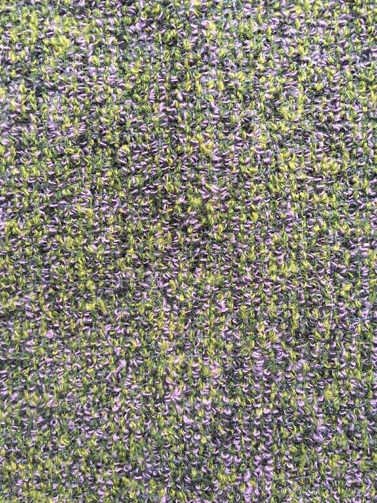 Christian Lacroix Wool Skirt Size 4 FR 36 Purple Green Bouclé Above Knee Saks