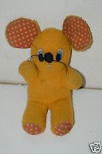 "WOW Cute Vintage Handmade Stuffed Animal Plush 12"" Mouse Polka Dot Ears Toy RARE"