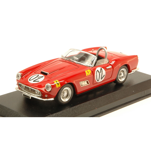 FERRARI 250 CALIFORNIA N.2 WINNER 2 H RELAY MARLBORO 1961 A.WYLIE 1:43 Die Cast