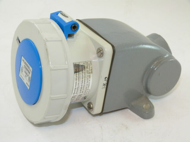 Hubbell C530r9w Receptacle 4p 5 Wire 30a 120v Used