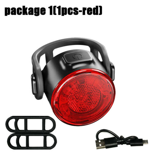 6 LED Rear Bike Light Front Headlight USB Rechargeable Bicycle Caution Tail Lamp