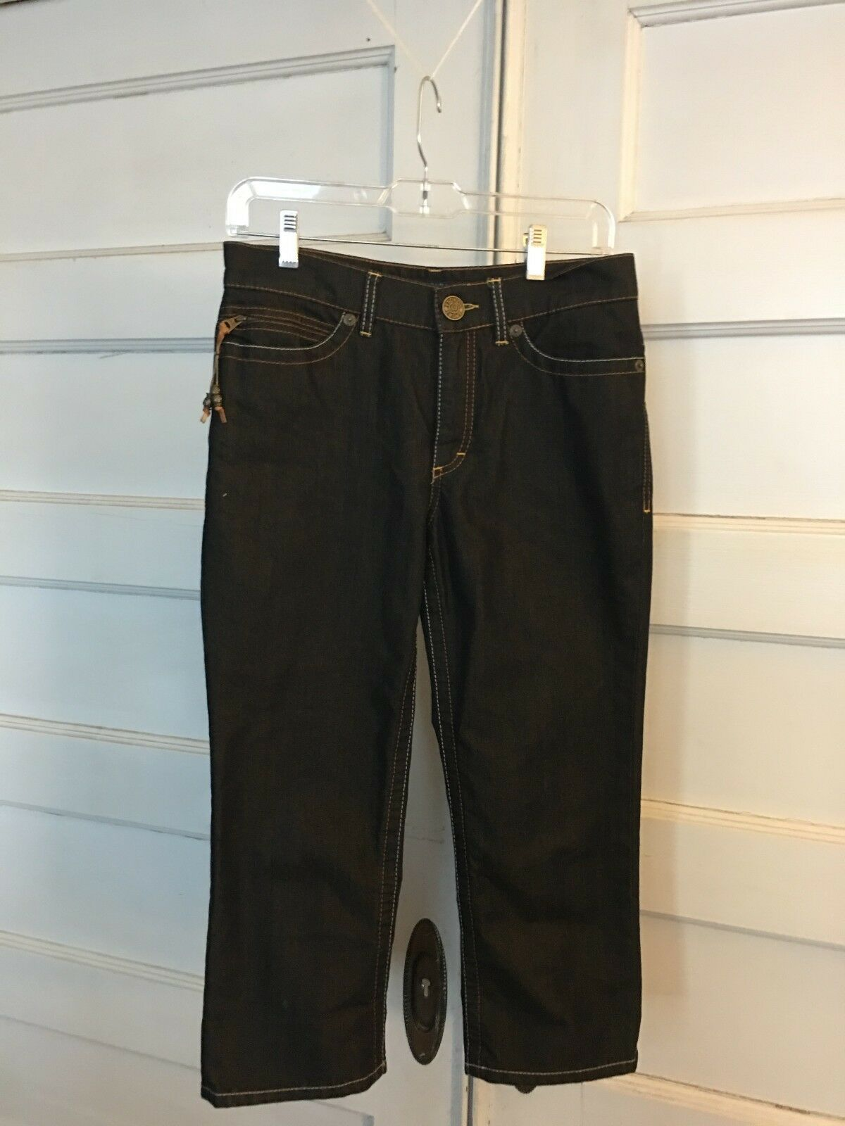 Escada sport iridescent cropped jeans made in , size US 6, free shipping
