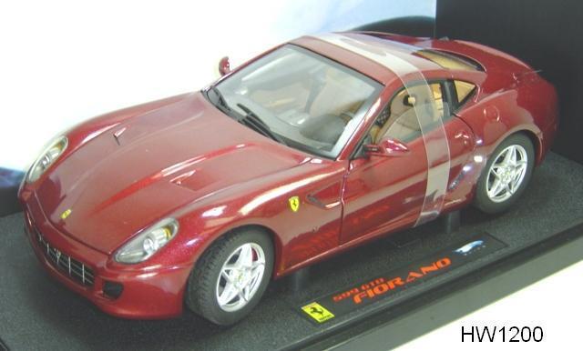 LOT OF 2 FERRARI MODELS. 1 365 365 365 GTB/4 & 1 599 GTB FIORANO 1:18 HOT WHEELS ELITE 58d8a3