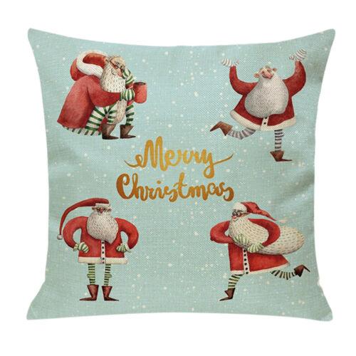BIZARRE Arbre de Noël Confortable Canapé Festival Taie D/'oreiller Coussin Pillow Cover
