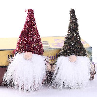 Christmas Gnome Decor.Cute Old Man Christmas Gnome Santa Claus Plush Toy Elf Xmas Decor Ornaments Sanw Ebay