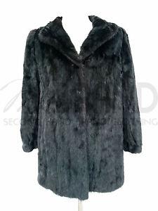 noir femmes de Manteau Pelz 5502 fourrure de Mex Fourrure Best Angle vison pour Art TYddIqw