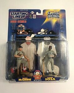 1998 MLB Starting Lineup Classic Doubles Mark McGwire Sammy Sosa Action Figure