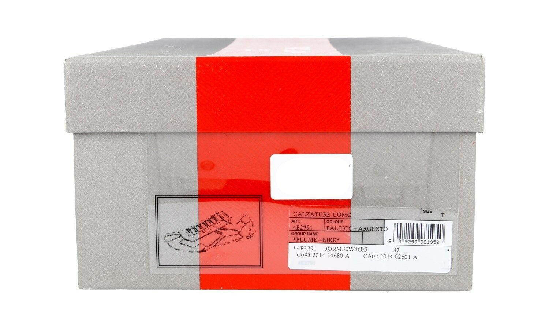 LUXUS PRADA MONTE CARLO SNEAKER SNEAKER SNEAKER SCHUHE 4E2791 BLAU + SILBER NEU 6 40 40,5 8c45c5