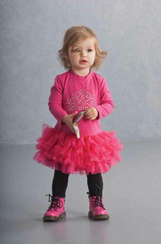 Authentic Kate Mack Crown Princess L//Sleeve Pink Infant Girl Tutu Dress 9m Last