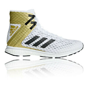 Adidas-Homme-speedex-16-1-Boost-Boxe-Chaussures-Or-Blanc-Sport-Respirant