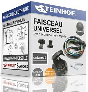 FAISCEAU-ELECTRIQUE-13broches-pour-attelage-FORD-TRANSIT-de-1985-2013