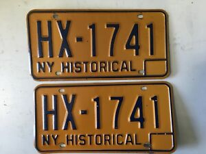 1970-s-New-York-Historical-License-Plate-HX1741