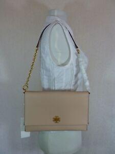 3dee1b5c8823 NWT Tory Burch Perfect Sand Beige Leather Kira Chain Shoulder Bag ...
