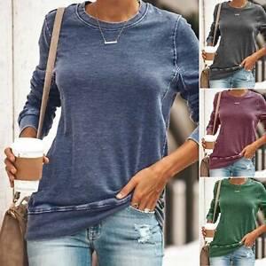 Womens-Long-Sleeve-Sweater-Blouse-Ladies-Autumn-Jumper-Shirt-Tops-Plus-Size-8-16