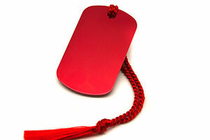 Personalised-Red-Aluminium-Dog-Tag-Bookmark-Gift-Box-Choice-of-Tassel-Engraved