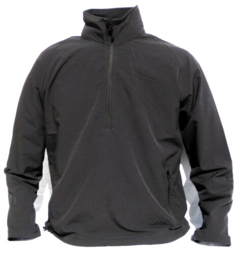 Cabela/'s Men Black Soft-Shell 1//2 Zip Temperate Layering Pullover Outdoor Jacket