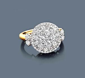 Anillo-De-Diamantes-Oro-amarillo-585-Anillo-de-brillantes-2-09-qt-Manufactura