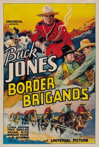Buck Jones Cult Western movie poster print 1935 Border Brigands