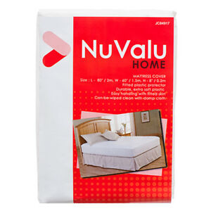 Mattress Cover Queen Size Fitted Plastic Bed Protector Nuvalu Peva