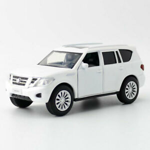 Nissan-Patrol-Y62-SUV-1-36-Scale-Model-Car-Gift-Diecast-Toy-Vehicle-Kids-White