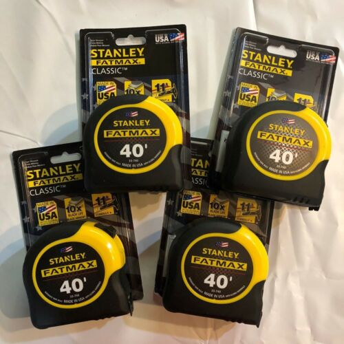Lot of 4 Stanley Fatmax Classic 40/' Tape Measure Brand New Made in the USA 33-74